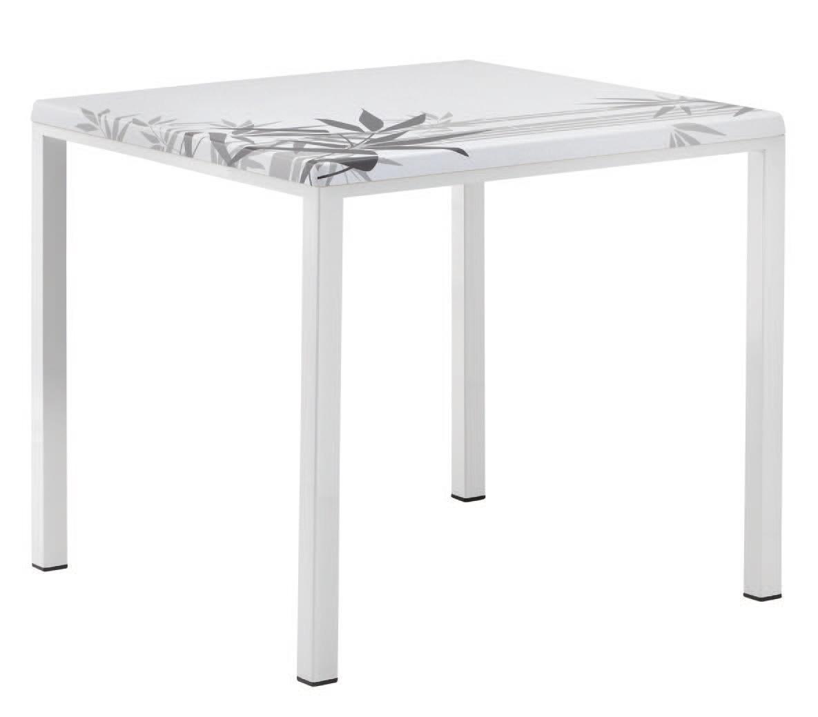 FT 044 carré, Table avec peint idéal de base en métal pour bar