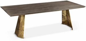 Icaro table, Table rectangulaire avec base en fer