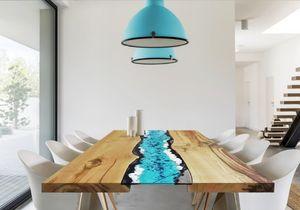 Life Oceanside, Table avec insert en pierre de lave
