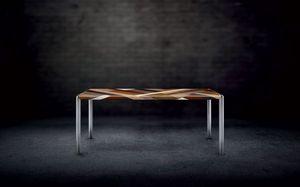 OLIMPO 1.8 PW45, Table rectangulaire, cadre en métal, plateau en bois