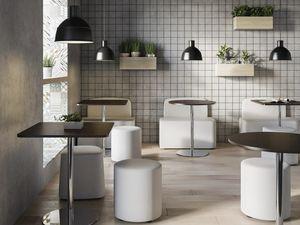 TABLE MFC, Table ronde ou carrée avec plateau en mélamine