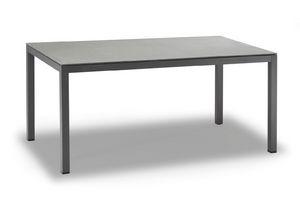 TAVOLO MESSICO, Table en aluminium peint anthracite