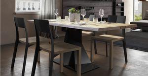 Trog junior, Table avec une base en fer élégante