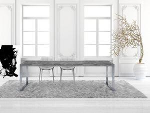 GEORGE pinède, Table rectangulaire en sapin, pour un séjour