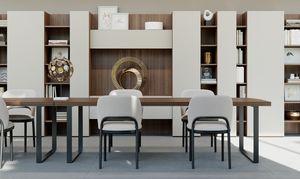 GEORGE rectangular, Table rectangulaire avec un design propre, pour Office