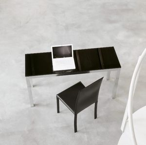 dl50 parigi, Table design de bureau, en aluminium et en verre