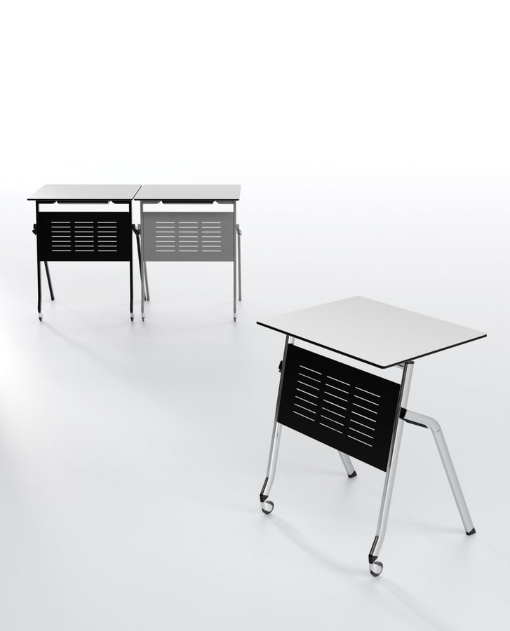 Pitagora, Tableau avec capote, empilable horizontalement, pour les salles de classe et une salle de conférence