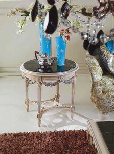 2894 table basse, Table basse avec plateau en marbre noir
