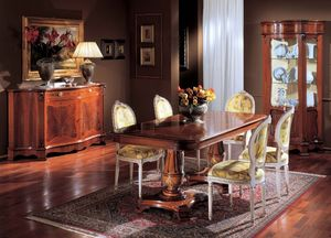 3190 TABLE, Incrusté table en bois, avec 2 lits, pour les classiques salons
