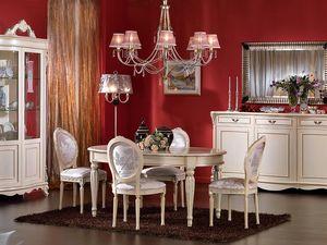 3440 TABLEAU, Table ovale fixe, laqué, pour des séjours classiques
