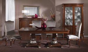 3625 TABLE, Table luxueuse, sculptée à la main, style classique
