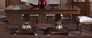 3625 TABLE, Table rectangulaire avec plateau en marqueterie, pour salle à manger