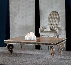 418T 90x140, Table basse design classique