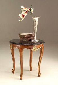 6524 petite table, Table basse de style classique avec dessus en marbre