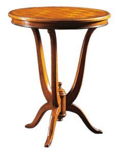 Adriano FA.0113, Decò table avec plateau rond en bois marqueté