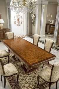 Aida table, Table élégante avec plateau en bruyère