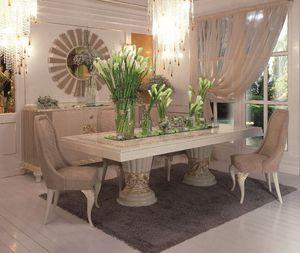 Art. 100, Table rectangulaire de luxe classique salle à manger