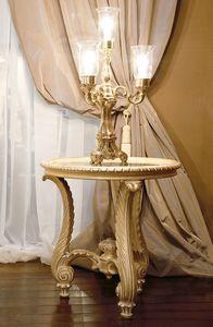 Art. 1055, Table basse classique pour le salon, sculpté à la main