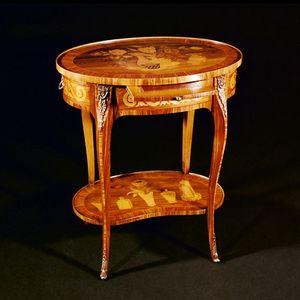 Art. 118 Ambulante, Table d'appoint classique avec incrustations faites à la main