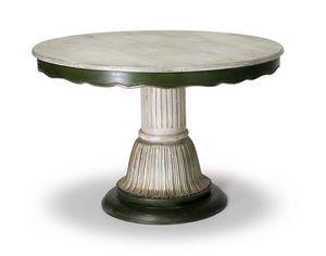 Art.140 dining table, Table de style classique avec colonne centrale
