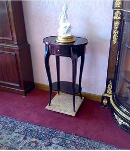 Art. 142/L Lione, Table d'appoint ovale avec tiroir