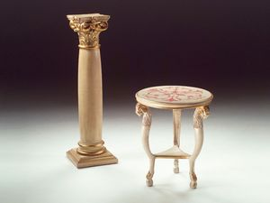 Art. 1460 Rams, Petite table ronde en bois, classique, pour le salon