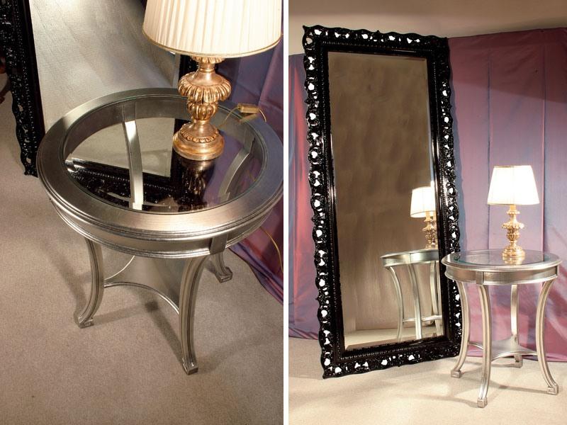 Art. 1610, Table basse en bois rond en verre de cristal, pour les hôtels