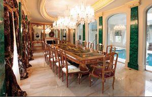 Art. 165, Table à manger de luxe avec le bois de rose incrusté
