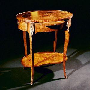 Art. 174 Fiori, Table d'appoint avec plateau ovale, incrusté