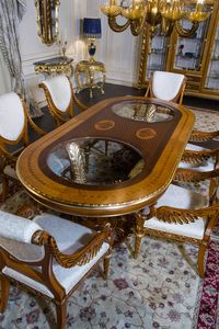 Art. 2011 table, Table ovale avec plateau incrust�
