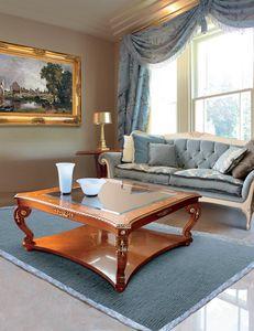 Art. 212, Table basse classique avec plateau en verre