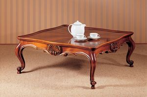 Art. 222/Q, Traditionnelle table de café de luxe, soigneusement sculpté, pour living