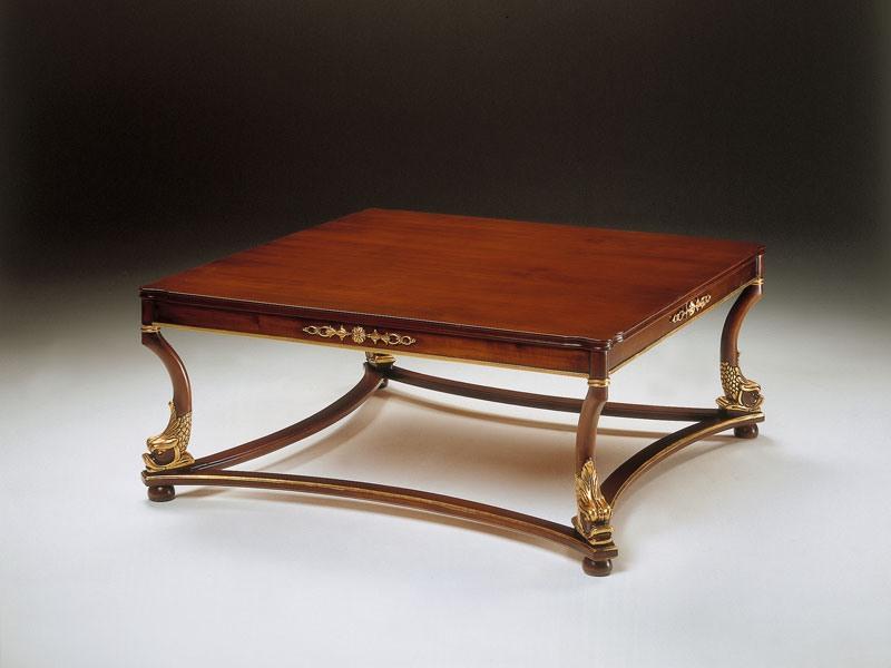 Art. 223/Q Nettuno, Table basse classique en bois, pour la réception