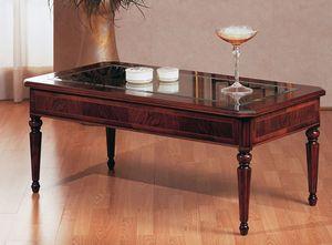 Art. 229, Table classique de café, de luxe, avec plateau en verre, pour Villa