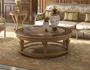 Art. 29, Table basse avec plateau rond en marbre