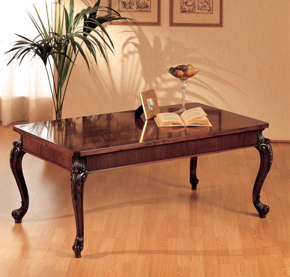 Art. 294/R, Table en bois, pieds sculptés, pour la décoration de la maison classique
