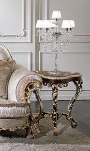 ART. 3013, Table basse classique avec plateau en marbre rose