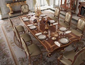 Art. 500, Table en bois avec plateau incrusté