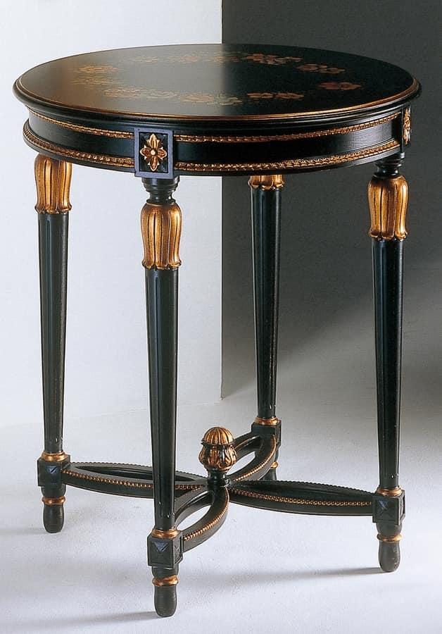 Art. 535/AN Anastasya, Table basse sculptée, de style Louis XVI, pour le salon