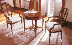 Art. 563/A, Table d'appoint en bois avec des incrustations de ronde, pour les séjours classiques
