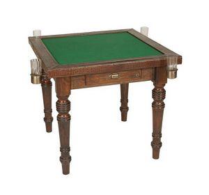 Art. 597, Table de carte en bois, recouvert de cuir de veau