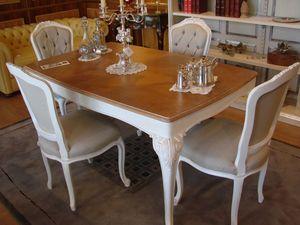 Art. 797, Table avec plateau en chêne cérusé, pour une cuisine classique