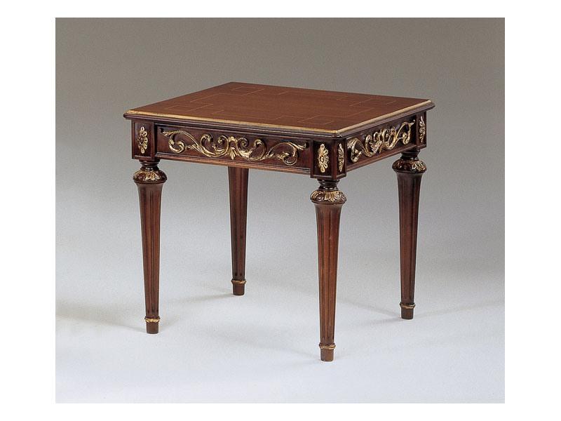 Art. 911 Decò, Petites tables classiques en bois sculpté, pour la salle de luxe