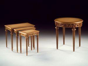 Art. 911 Decò round, Sculpté à la main de luxe petite table, pour les suites de l'hôtel