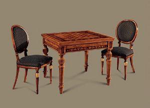 Art. 916, Table de style classique pour jeu de cartes, poker, échecs