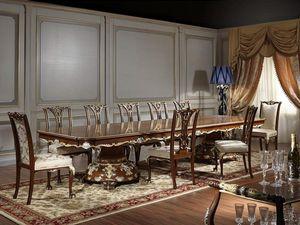 Art. 951/3 table Luigi XV, Table Majestic pour la salle à manger de style Louis XV