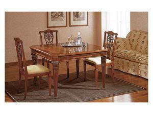 Art. 964 table Carlo X, Tables de style classique à manger, avec des extensions, pour le salon