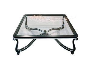 Art. 999, Décorée Preciously petite table, plateau en verre, pour le hall
