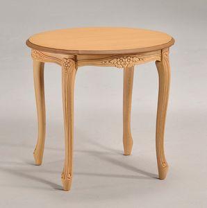 BRIANZOLO table ronde café 8075TL, Deluxe petite table ronde, pour la salle de lecture classique