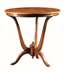 Claudio FA.0114, Table de Deco, base en bois avec 3 pieds
